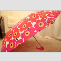 Wholesale Black Red Sunflower Umbrella Parasols Sunshade Umbrella Fan Outdoor Personalized Gifts S034