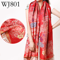 Wholesale News Fashion Polyester Fiber Red Scarf Cables Scarf Pattern Crochet Shawl Patterns for Girls WJ801
