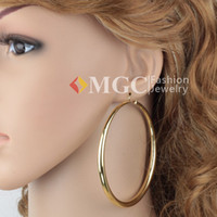 Wholesale New Big Size Items K Gold Plated Vintage Hoop Dangle Earrings Basketball Wives Fashion Jewellery Gift For Trendy Women MGC E639