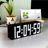 alarm clock font - Big Font Digital LED Wall Alarm Clock Calendar Timer Clock Temperature Clock Home Decor Table Desk Clock No ticking Mute Clock