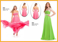 Chiffon Sleeveless Floor-Length Fashion Sexy Green Strapless A line Beads Backless Chiffon Long Colorful WOW Prom Evening Dresses Formal Party Pageant Dress Gowns 5091