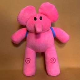 Free Shipping Plush ELLY Pocoyo PATO Soft Plush Stuffed Figure Toy Doll about 28cm elegant and flexible elephant