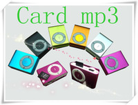 Wholesale omotion DHL mini clip mp3 player with card slot MP3 USB Earphone AA19