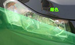 Wholesale 12 quot X48 quot Green Headlight Fog Light Taillight Tint Viny Film Sheet Sticker
