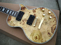 Wholesale Custom Shop Electric Guitar Electric Guitar with Rooted Maple Top Natural guitar from china