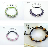 Wholesale 10 of the best quality Paris lace Disco Ball Bracelet free delivery