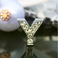 Wholesale mm Y slide letter alphabet DIY accessories fit for necklace