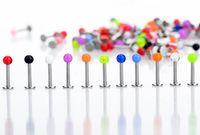 Wholesale 100pcs Tongue Rings mm Ball Tragus Labret Lip Piercing Fashion Body Piercing Jewelry For Women Men BA52