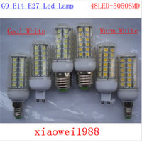 110V and 220V E27 E14 G9 GU10 48LED 5050 SMD 8W low price hi...