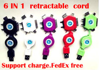 Wholesale 6 IN Retractable Charging cord USB Cable cord extention m MOQ