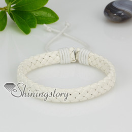 genuine leather woven drawstring wrap bracelets charm bracele fashion leather bracelets jewelry Lb1092yy0