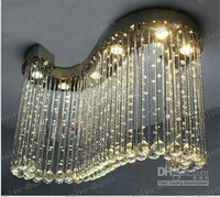 Wholesale LLFA27 top sales S design L800 W300 H600mm crystal chandeliers crystal lighting