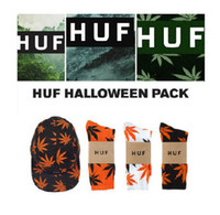 Wholesale Weed huf socks maple leaf fashion mens male fashion long socks womens cotton sock autumn amp winter weeds sport sock mix order