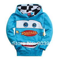 Boy Spring / Autumn Hooded children clothing wholesale children hooded jacket boys and girls kids car longsleeved jacket 5pcs lot Free shipping