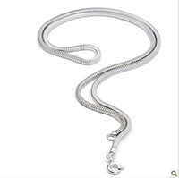 Wholesale Fashion Sterling Silver Snake Bone Chain Necklace Short Section