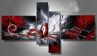 Wholesale Contemporary Red Abstract Canvas Oil Painting Art Passionate Paintings Are Manufactured Simply For You In Hot Selling For Decoration House