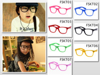 Wholesale Lovely Kids Frame Glasses Without Lens Fashion Nerd Eyewear Candy Color Mixed Colors Free Shipment