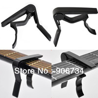 Wholesale High Quality Aluminium Alloy New Black Quick Change Clamp Key Acoustic Classic Guitar Capo For Tone Adjusting