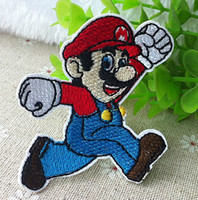 applique patches children - SUPER MARIO BROTHERS Embroidered Iron On Patch Applique Badge Children Cartoon Patch cm cm