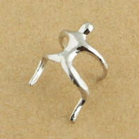 Wholesale Hot Sale Silver amp Gold Climbing Man Naked Climber Ear Cuff Helix Cartilage Earring A