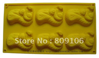 Wholesale Hole Squirrel silicone cake mold Toast Bakery Tools20 cm