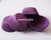 Wholesale 400 cupcake baking cups cupcake cases muffin cups cake slicer cupcake clear box dark purple paper muffin