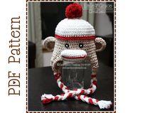 baby monkey hat crochet pattern - Handmade Knitting children Baby cap owl hat Sock Monkey Hat Crochet Pattern