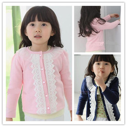 Wholesale 2013 children s clothing trade Hitz Korean children baby girls lace long sleeved cardigan coat girls clothes