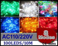 Wholesale LED String light Modes Display LED m led String Light for Holiday Party led christmas light AC110 V
