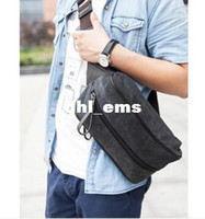 Wholesale Yeemuu chest pack male large capacity water wash canvas vintage bag small shoulder bag small waist pack
