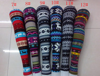 Wholesale Christmas Autumn Women Snowflake deer Leggings Ladies Snow leggings Pants STYLES Printing tights