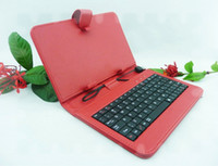Wholesale Leather Case USB Keyboard Cover For quot Ainol NOVO7 Fire Flame Elf Legend Aurora II Tablet Stylus OTG