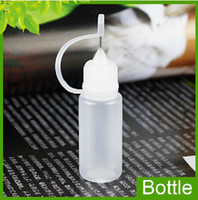 Wholesale Needle Bottles ml Empty Bottle for eGo Series Electronic Cigarette E cig Plastic Needle Dropper Bottles