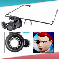 Wholesale Glasses type X pocket gift optical magnifier magnifying glass mirror lens with LED light