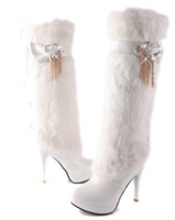Wholesale 2013 Winter White Tall boots boots women s boots high heels boots snow boots cotton Item