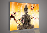 acrylic paintings on canvas - Religion Buddha Orange Wall Art Oil Painting On Canvas Acrylic For Sale Pictures On The Wall