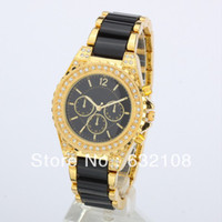 Unisex Round 23 2013 Newest Arrival Women's Brand Watch With Dual Diamond Crystal Stainless steel band Japan Movement 9 Color In Stock Free Ship