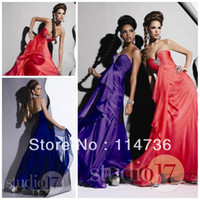 Reference Images Sweetheart Chiffon WOW Slap Up Sweetheart Empire Floor length Chiffon Crystal Classical Evening dresses Purple Grape Evening dress Prom gowns 2013_Online Sale