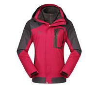 Wholesale Cheap Hiking Jackets Fushcia Womens Camping Jackets Charming Hunting Wear Unique Removable Liner Outdoor Sportswear Hot Sale S0402
