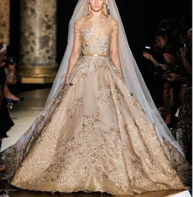 Beige Color Wedding Dresses