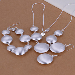 Wholesale - lowest price Christmas gift 925 Sterling Silver Fashion Necklace+Earrings set QS012