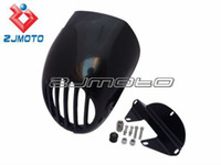 Wholesale BLACK Glass fiber SPORTSTER CAFE BIKINI FAIRING W mm FORKS FX XL FRONT END For ANY HARLEY SPORTY XL DYNA FXR RACER