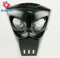 Honda bandit fairing - Spartan Custom motorcycle Streetfighter mask headlight universal light fairing GSXR BANDIT SV SV1000S SV650S Black