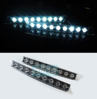 Front Audi  2PCS Audi Style 9 LED High power Daytime Running Driving Light DRL Parking Lamp