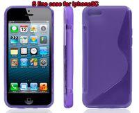 Freeshipping Soft S Line TPU Case iphone5C Dustproof Case Co...