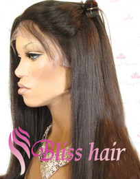 Wholesale Best Indian Virgin Remy Human Hair Long Silky Straight Full Lace Wigs For African Americans Bleached Knots Natural Hairline