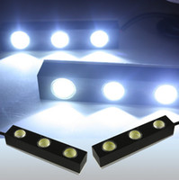 Cheap 2PCS 3 LED High power Daytime Running Driving Light DRL Lamp Car Truck Jeep