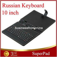 Wholesale Russian Leather Keyboard case with USB Interface Keyboard for inch MID Tablet PC OTG Cable For Gift