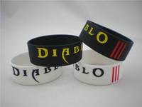Unisex diablo - Diablo Wristband quot Wide Band Adult Size Silicon Bracelet Colours