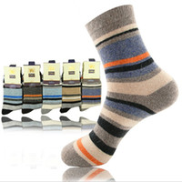 Wholesale 2013 Hot Sale Winter Thicken Socks Wool and Rabbit Hair Man Socks Gentleman Socks Stripe Contrast Color Socks LH356